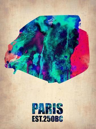 Paris Watercolor Map by NaxArt