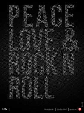 Peace Love and Rock N Roll Poster by NaxArt