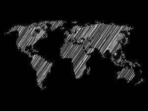 Pencile Scribble World Map 2 by NaxArt