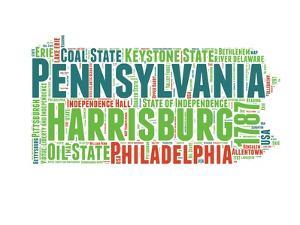 Pennsylvania Word Cloud Map by NaxArt