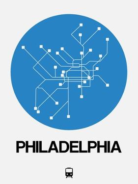 Philadelphia Blue Subway Map by NaxArt