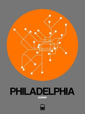 Philadelphia Orange Subway Map by NaxArt