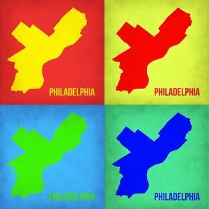 Philadelphia Pop Art Map 1 by NaxArt