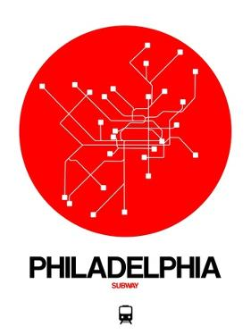 Philadelphia Red Subway Map by NaxArt