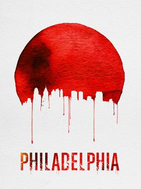Philadelphia Skyline Red by NaxArt