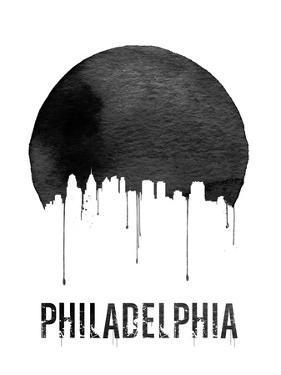 Philadelphia Skyline White by NaxArt