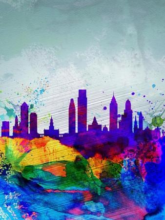 Philadelphia Watercolor Skyline by NaxArt