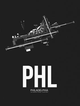 PHL Philadelphia Airport Black by NaxArt