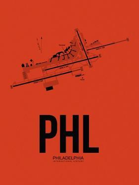 PHL Philadelphia Airport Orange by NaxArt