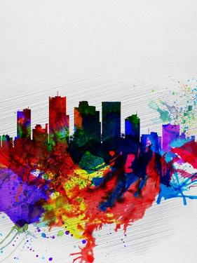 Phoenix Watercolor Skyline 2 by NaxArt