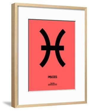 Pisces Zodiac Sign Black by NaxArt
