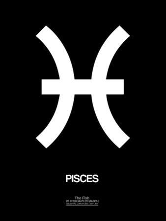 Pisces Zodiac Sign White by NaxArt