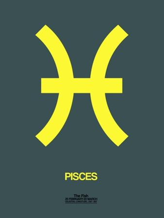 Pisces Zodiac Sign Yellow by NaxArt