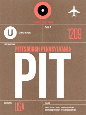 PIT Pittsburgh Luggage Tag 2 by NaxArt