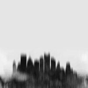 Pittsburgh City Skyline - Black by NaxArt