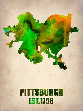 Pittsburgh Watercolor Map by NaxArt