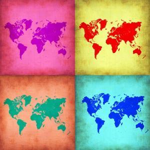 Pop Art World Map 1 by NaxArt