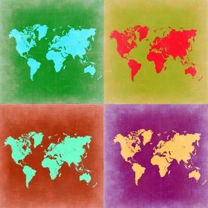 Pop Art World Map 3 by NaxArt