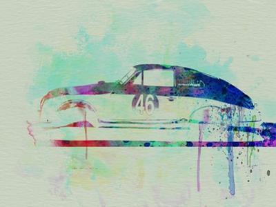 Porsche 356 Watercolor by NaxArt