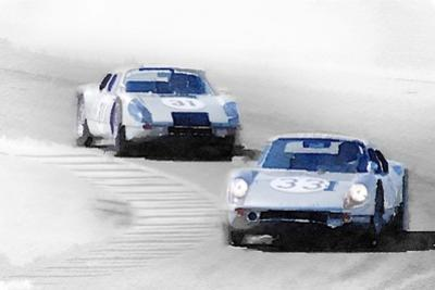Porsche 904 Racing Watercolor by NaxArt