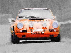 Porsche 911 Race Track Watercolor by NaxArt