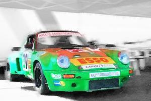 Porsche 911 Turbo Watercolor by NaxArt