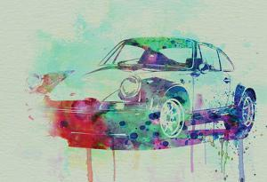 Porsche 911 Watercolor 2 by NaxArt
