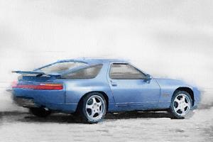 Porsche 928 Watercolor by NaxArt