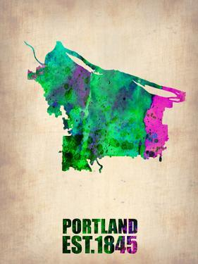 Portland Watercolor Map by NaxArt