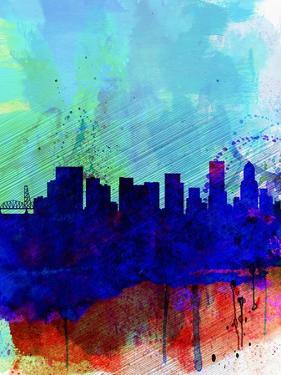 Portland Watercolor Skyline by NaxArt