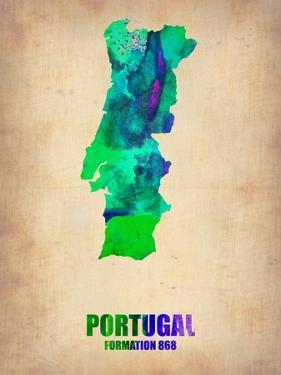 Portugal Watercolor Map by NaxArt