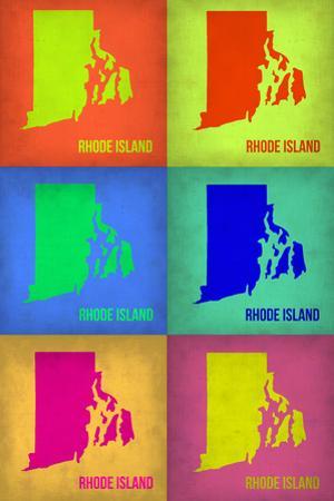 Rhode Island Pop Art Map 1 by NaxArt