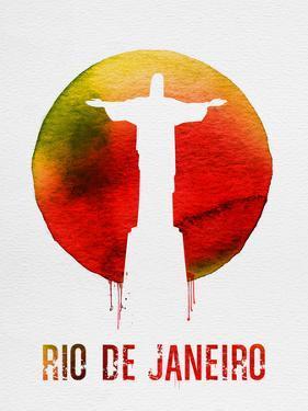 Rio De Janeiro Landmark Red by NaxArt