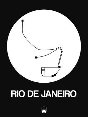 Rio De Janeiro White Subway Map by NaxArt