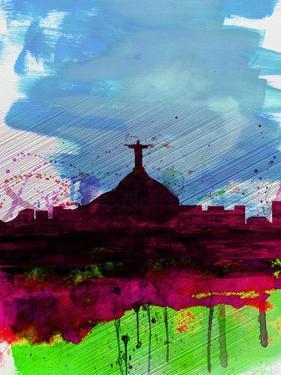 Rio Watercolor Skyline by NaxArt