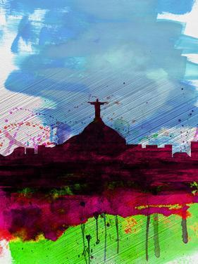 Rio Watercolor Skyline by NaxArt