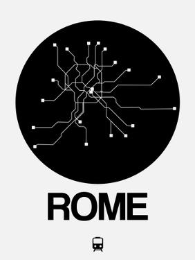 Rome Black Subway Map by NaxArt