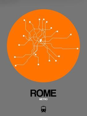 Rome Orange Subway Map by NaxArt