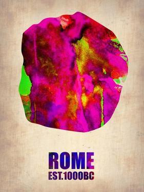 Rome Watercolor Map by NaxArt