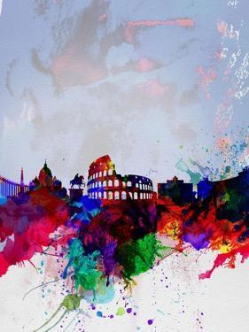 Rome Watercolor Skyline by NaxArt