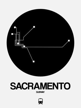 Sacramento Black Subway Map by NaxArt