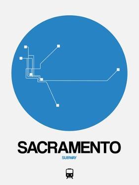 Sacramento Blue Subway Map by NaxArt
