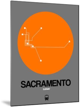 Sacramento Orange Subway Map by NaxArt