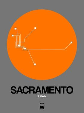 Sacramento Orange Subway Map by NaxArt