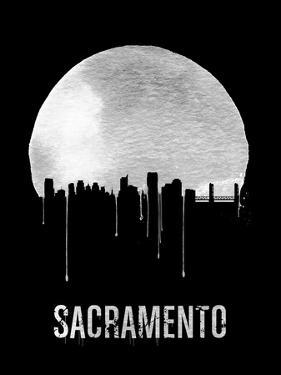 Sacramento Skyline Black by NaxArt