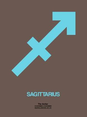 Sagittarius Zodiac Sign Blue by NaxArt