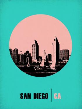 San Diego Circle Poster 1 by NaxArt