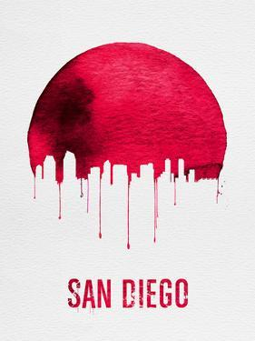 San Diego Skyline Red by NaxArt