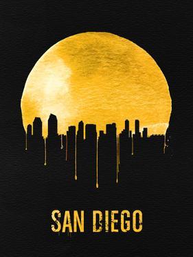 San Diego Skyline Yellow by NaxArt