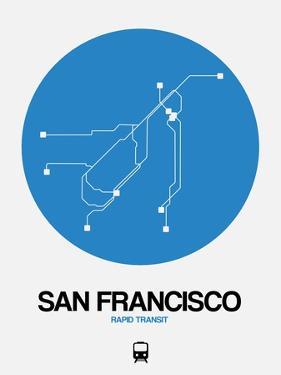 San Francisco Blue Subway Map by NaxArt
